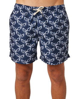 NAVY WHITE MENS CLOTHING ACADEMY BRAND BOARDSHORTS - 19S703NVWH