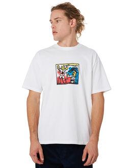 WHITE MENS CLOTHING POLAR SKATE CO. TEES - PSCSUPERT-WHITE