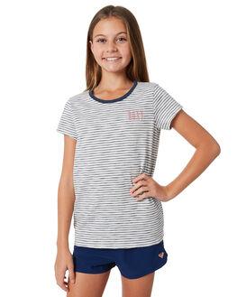 DRESS BLUES SIMPLE KIDS GIRLS ROXY TEES - ERGZT03323XBWB