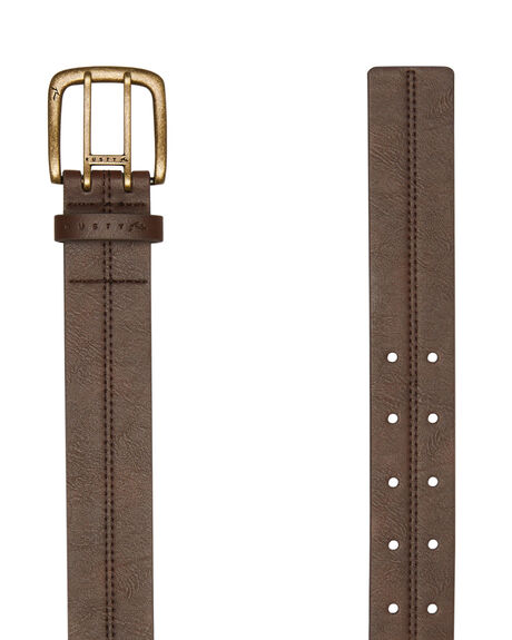 DARK COFFEE MENS ACCESSORIES RUSTY BELTS - BEM0496DCF