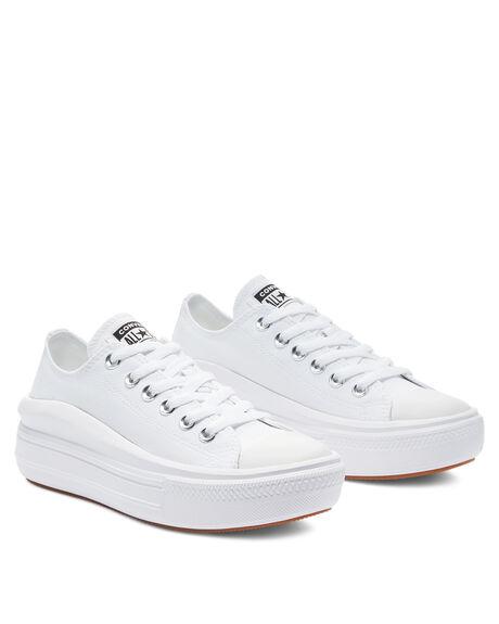 WHITE WOMENS FOOTWEAR CONVERSE SNEAKERS - 570257WHT