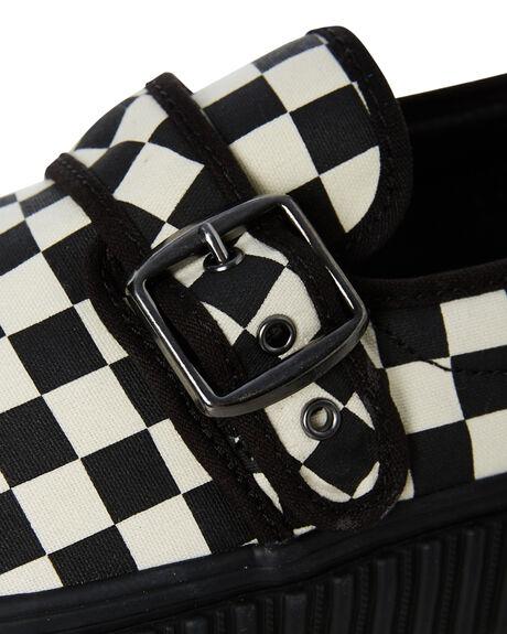 BLACK WHITE WOMENS FOOTWEAR VANS SNEAKERS - SSVN0A4U1BTYQBLKWW