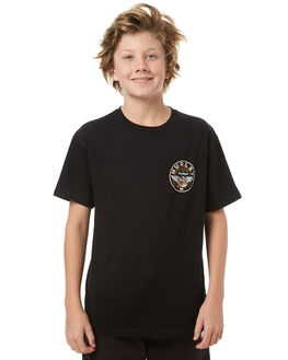 BLACK KIDS BOYS HURLEY TEES - ABTSCRFLY00A