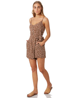 BROWN DITSY WOMENS CLOTHING ELWOOD PLAYSUITS + OVERALLS - W93714-6HL