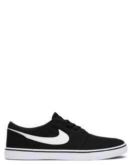 BLACK WHITE MENS FOOTWEAR NIKE SKATE SHOES - SS880268-010M