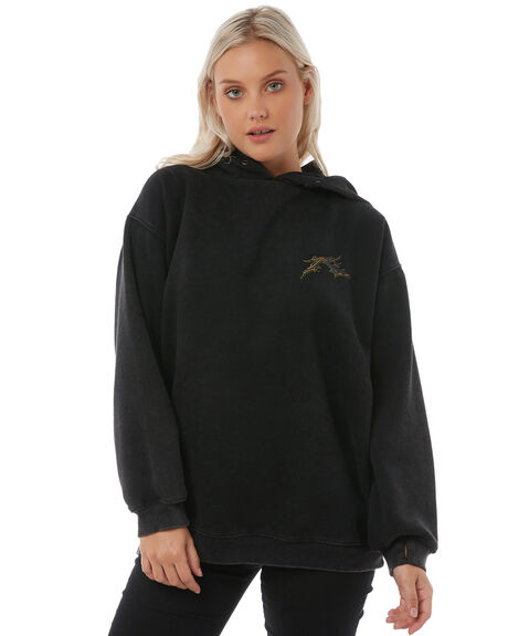 BLACK WOMENS CLOTHING RUSTY JUMPERS - FTL0671BLK