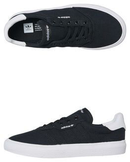 BLACK WHITE KIDS BOYS ADIDAS SNEAKERS - DB3502BLK