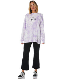 PURPLE TYE DYE WOMENS CLOTHING MISFIT TEES - MT105009PTDYE