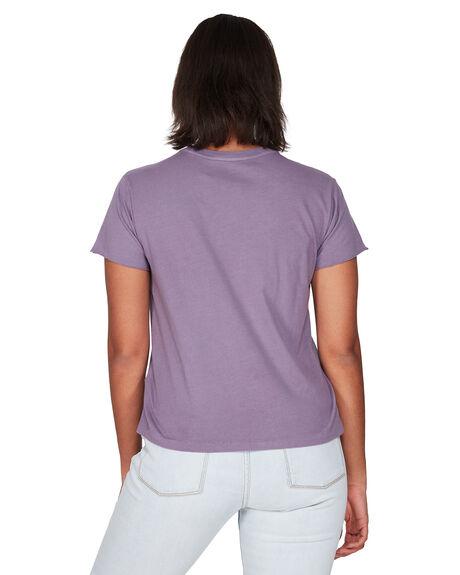 PURPLE JADE WOMENS CLOTHING RVCA TEES - RV-R291682-PUJ