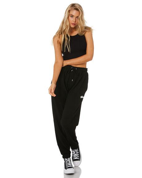 BLACK WOMENS CLOTHING STUSSY PANTS - ST1M0188BLK