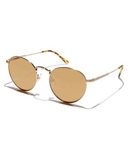 BRUSHED GOLD WIRE MENS ACCESSORIES CRAP SUNGLASSES - 164WA91MGGLDWR