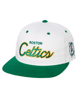 WHITE GREEN YELLOW MENS ACCESSORIES MITCHELL AND NESS HEADWEAR - INTL440WGY