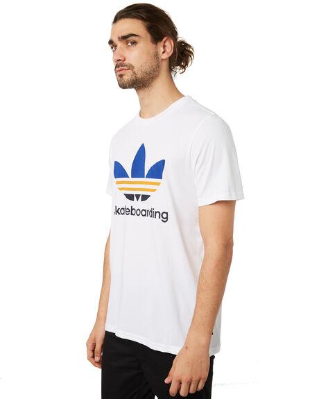 WHITE YELLOW MENS CLOTHING ADIDAS TEES - DH3869WYLW