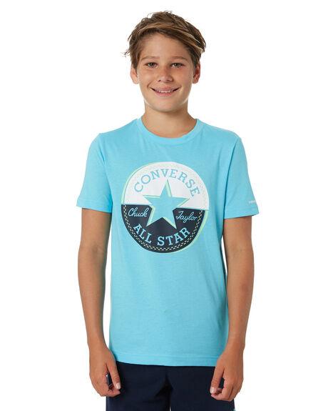 BLEACHED CYAN KIDS BOYS CONVERSE TOPS - R9CB363B0J