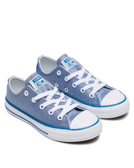 ICE BLUE KIDS GIRLS CONVERSE SNEAKERS - 668473CIBLU