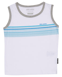 WHITE KIDS TODDLER BOYS BILLABONG SINGLETS - 7571502WHT