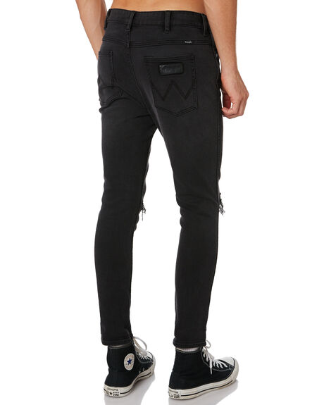 BLACK CROWE MENS CLOTHING WRANGLER JEANS - W-901596-LR0BLKCR