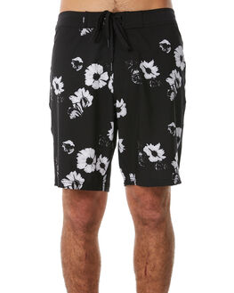 BLACK MENS CLOTHING AFENDS BOARDSHORTS - M183303BLK