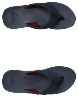 BLUE RED GREY MENS FOOTWEAR QUIKSILVER THONGS - AQYL100633XBRS