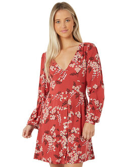 ROUGE WOMENS CLOTHING THE HIDDEN WAY DRESSES - H8183449RED