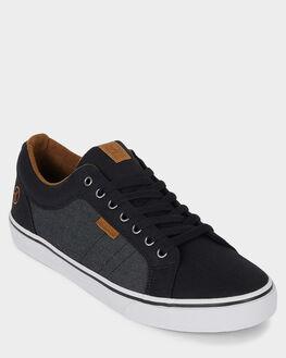 BLACK GRANITE MENS FOOTWEAR KUSTOM SNEAKERS - KS-4991114-KGR