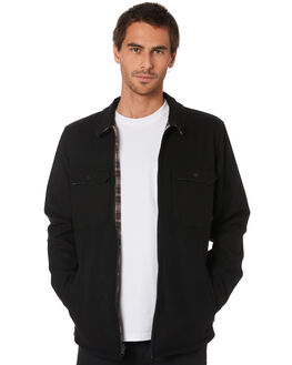 DIRTY BLACK MENS CLOTHING BANKS JACKETS - WJT0064DBL