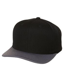BLACK GREY MENS ACCESSORIES FLEX FIT HEADWEAR - 161168BGY