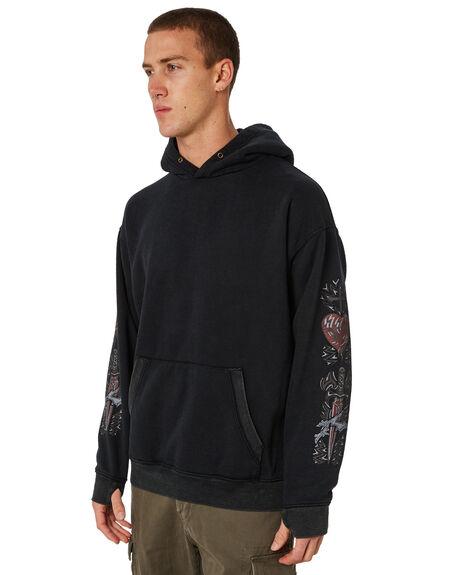 BLACK MENS CLOTHING RUSTY JUMPERS - FTM0846BLK