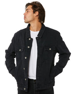 BLACK MENS CLOTHING SILENT THEORY JACKETS - 4013054BLK