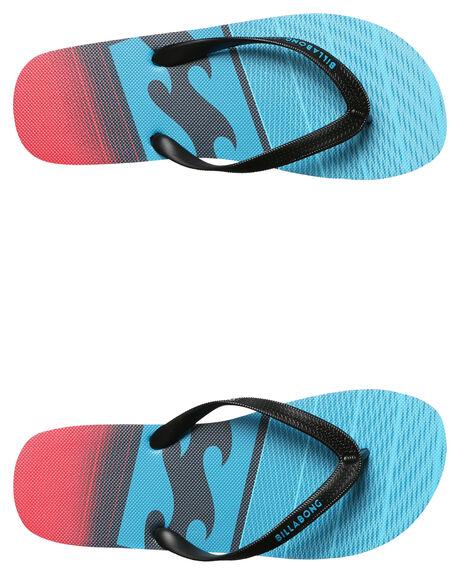 NAVY RED MENS FOOTWEAR BILLABONG THONGS - 9672931NRD