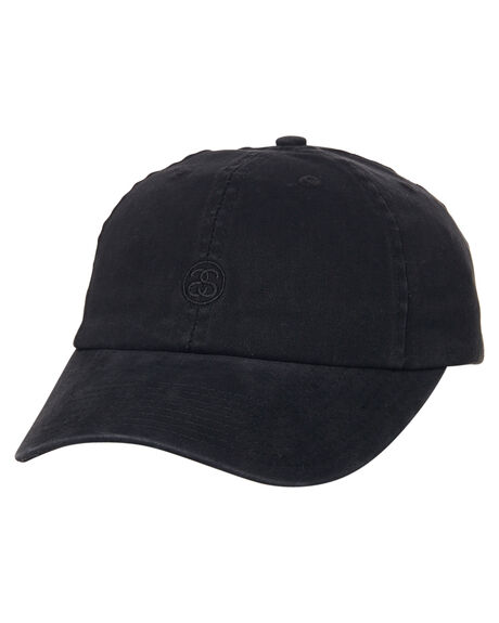 BLACK MENS ACCESSORIES STUSSY HEADWEAR - ST776003BLK