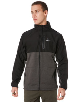DARK GREY MARLE MENS CLOTHING RIP CURL JACKETS - CFENV18538