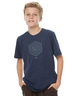 NAVY HEATHER KIDS BOYS BILLABONG TEES - 8571014NVY