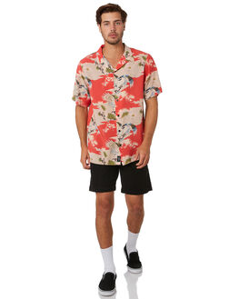 RED MENS CLOTHING THRILLS SHIRTS - TA20-215HRED