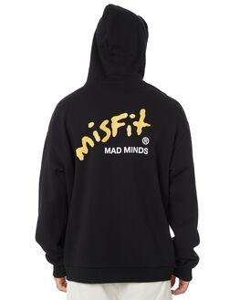 WASHED BLACK MENS CLOTHING MISFIT JUMPERS - MT095203WSBLK