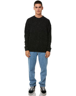 BLACK MENS CLOTHING RUSTY KNITS + CARDIGANS - CKM0326BLK