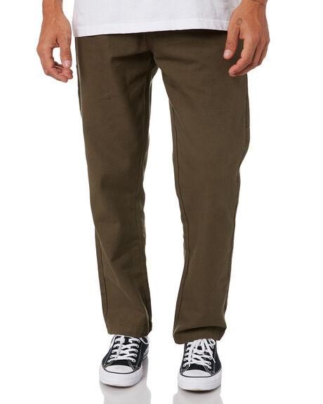 DARK OLIVE MENS CLOTHING DEUS EX MACHINA PANTS - DMF204631DOLV