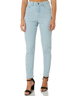 SUNBLEACHED BLUE WOMENS CLOTHING AFENDS JEANS - 53-02-011SBLU