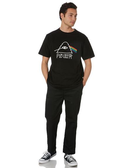 BLACK MENS CLOTHING POLER TEES - 55200035-BLK