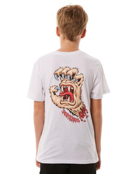 WHITE KIDS BOYS SANTA CRUZ TEES - SC-YTA8077WHT