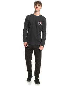 BLACK MENS CLOTHING QUIKSILVER TEES - EQYZT05778-KVJ0
