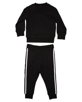BLACK WHITE KIDS BOYS ADIDAS JUMPERS + JACKETS - ED7728BLKWH
