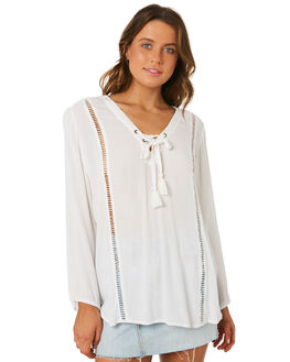 WHITE WOMENS CLOTHING RIP CURL FASHION TOPS - GSHDJ11000