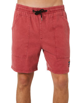 RED MENS CLOTHING RIP CURL SHORTS - CWAAS90040