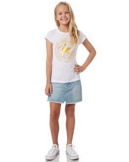WHITE KIDS GIRLS CONVERSE TOPS - R368735001