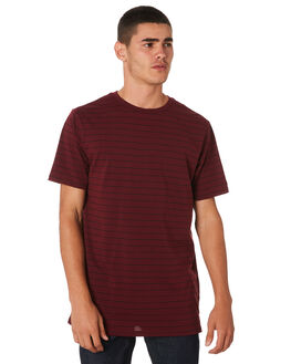 BURGUNDY MENS CLOTHING RIP CURL TEES - CTELP20043