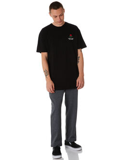 CHARCOAL MENS CLOTHING STUSSY PANTS - ST087606CHAR
