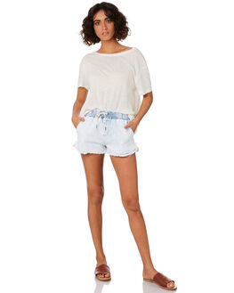 LIGHT BLUE WOMENS CLOTHING SWELL SHORTS - S8201232LTBLU