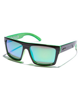 BLACK GREEN MENS ACCESSORIES CARVE SUNGLASSES - 3024BLKGR