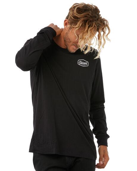 FLINT BLACK MENS CLOTHING ELEMENT TEES - 186054FBLK